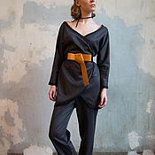 Одежда ручной работы. Ярмарка Мастеров - ручная работа Костюм из Джерси с кружевом. Handmade.