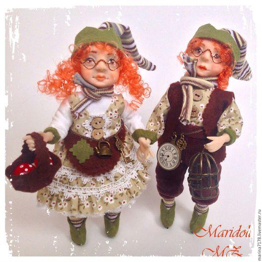 Коллекционные куклы ручной работы. Ярмарка Мастеров - ручная работа. Купить Коллекционные куклы хранители счастья. Handmade. Комбинированный, хлопок