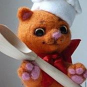 Куклы и игрушки ручной работы. Ярмарка Мастеров - ручная работа Котенок-поваренок. Handmade.