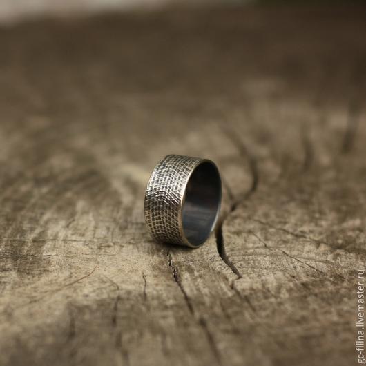 """Кольца ручной работы. Ярмарка Мастеров - ручная работа. Купить кольцо """"Фактура раз"""", серебро. Handmade. Серебряный, необычное украшение"""
