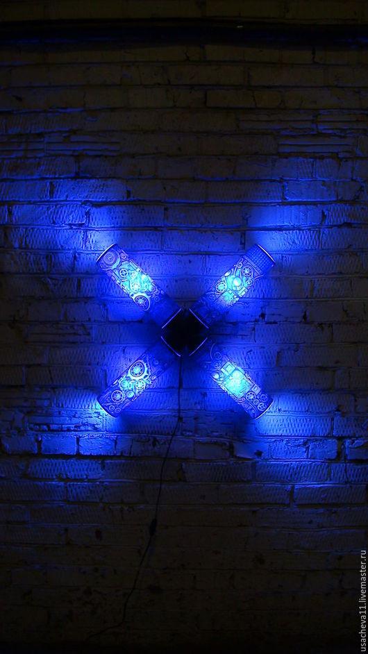 """Освещение ручной работы. Ярмарка Мастеров - ручная работа. Купить """"X"""". Handmade. Подарок, ночник, стекло"""