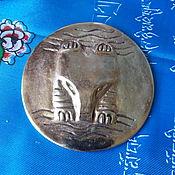 "Фен-шуй и эзотерика handmade. Livemaster - original item Shaman`s mirror ""Bear in ritaul posture"" from bronze. Handmade."