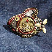 """Украшения ручной работы. Ярмарка Мастеров - ручная работа Брошь """"рыба Стим"""". Handmade."""