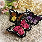 Украшения ручной работы. Ярмарка Мастеров - ручная работа Брошь-бабочка, три расцветки. Handmade.
