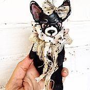 Куклы и игрушки ручной работы. Ярмарка Мастеров - ручная работа Собака символ 2018 года. Handmade.