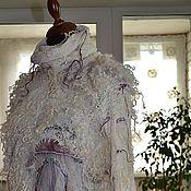 """Одежда ручной работы. Ярмарка Мастеров - ручная работа Пуловер """"НЕскучный"""" батик, меринос, шелк. Handmade."""