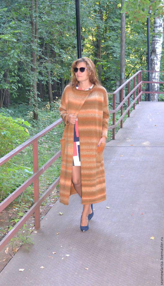 Верхняя одежда ручной работы. Ярмарка Мастеров - ручная работа. Купить Пальто Осенняя рапсодия оверсайз. Handmade. Комбинированный, мохер