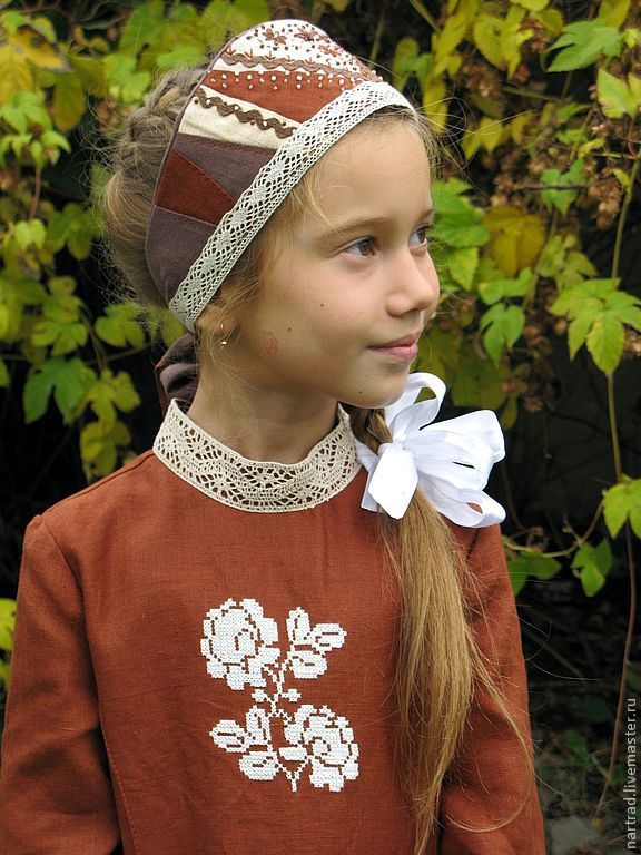 Повязка на голову в русском народном стиле своими руками 66