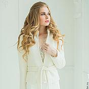 Накидки ручной работы. Ярмарка Мастеров - ручная работа Свадебное Пальто Белое Женское Пальто  «Криста Букле». Handmade.