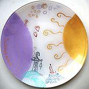 Тарелки ручной работы. Ярмарка Мастеров - ручная работа Тарелки: Счастье есть. Handmade.