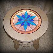 Для дома и интерьера ручной работы. Ярмарка Мастеров - ручная работа Кофейный столик с подсветкой Калейдоскоп. Handmade.