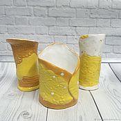 Для дома и интерьера handmade. Livemaster - original item Hand-made ceramic candlestick. Handmade.