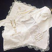 Комплекты одежды ручной работы. Ярмарка Мастеров - ручная работа Крестильный набор из трёх предметов. Handmade.
