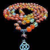 Фен-шуй и эзотерика handmade. Livemaster - original item Rosary of Carnelian and red Jasper 108b.. Handmade.