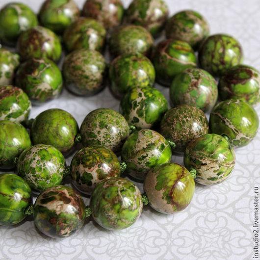 Для украшений ручной работы. Ярмарка Мастеров - ручная работа. Купить Варисцит зеленый 10 и 12 мм шар гладкий - бусины камни для украшений. Handmade.