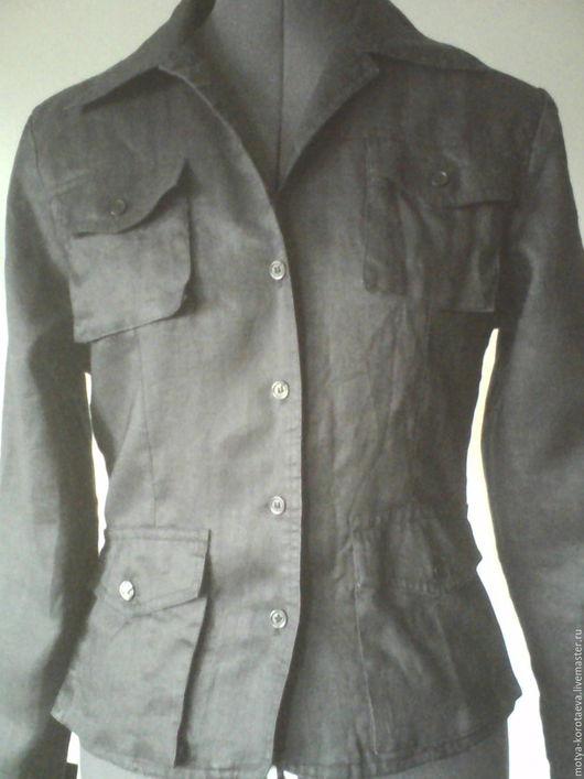 Одежда. Ярмарка Мастеров - ручная работа. Купить Старый, льняной пиджак... ) Винтаж!. Handmade. Старина, ретро-стиль