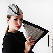 """Аксессуары ручной работы. Ярмарка Мастеров - ручная работа Пилотка """"Бермудский треугольник"""". Handmade."""
