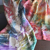Аксессуары ручной работы. Ярмарка Мастеров - ручная работа Шелковый шарф батик ботанический принт Яркая осень. Handmade.