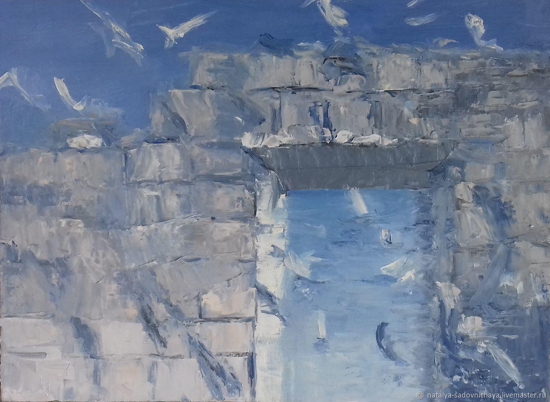 Картина: У моря, холст, масло 30х40, Картины, Новосибирск,  Фото №1