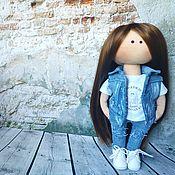 Куклы и игрушки handmade. Livemaster - original item Gift Doll interior personal in jeans. Handmade.