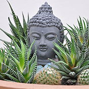 Для дома и интерьера handmade. Livemaster - original item Buddha head concrete small for Floriana mini-garden. Handmade.
