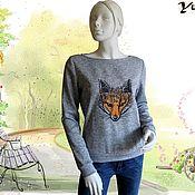 Одежда handmade. Livemaster - original item Sweatshirt with Fox. Handmade.
