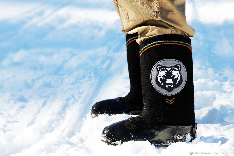 boots: ' Bear', Felt boots, Moscow,  Фото №1