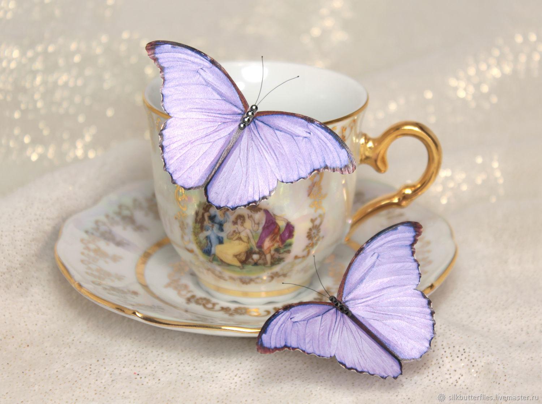 Сиреневые бабочки для декора интерьера / Набор из 2 штук, Украшения, Химки,  Фото №1