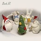 """Подарки к праздникам ручной работы. Ярмарка Мастеров - ручная работа """"Они прижали ушки, повисли, как игрушки..."""". Handmade."""