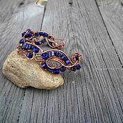 Украшения handmade. Livemaster - original item Copper lapis lazuli bracelet wire wrap. Handmade.