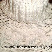 Одежда handmade. Livemaster - original item Sweater women`s Braids. Hand knitting.. Handmade.