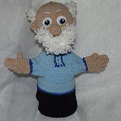 Куклы и игрушки ручной работы. Ярмарка Мастеров - ручная работа Кукла- перчатка. Дед Матвей. Handmade.