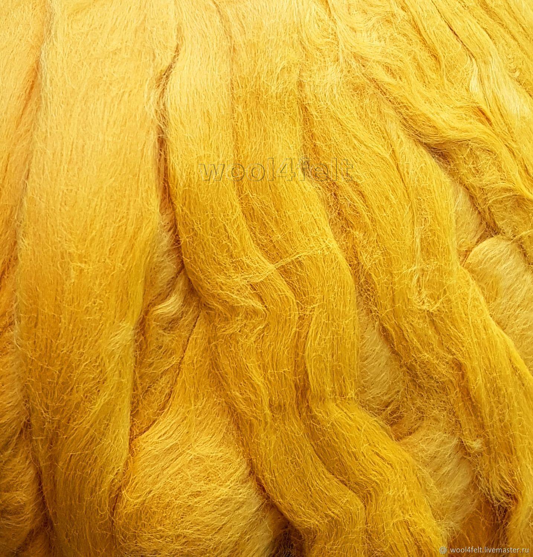 Вискоза матовая ярко-желтая 50 г, Валяние, Рига, Фото №1