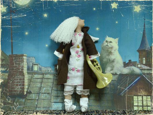 """Сказочные персонажи ручной работы. Ярмарка Мастеров - ручная работа. Купить Ангел """"Пойду подудю"""". Handmade. Белый, интерьерная кукла"""