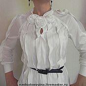 """Одежда ручной работы. Ярмарка Мастеров - ручная работа Блуза из трикотажа  """" Белые розы"""". Handmade."""