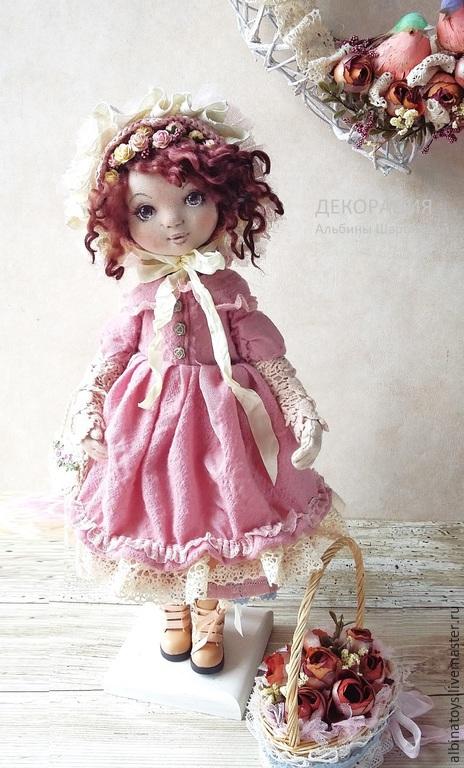 Коллекционные куклы ручной работы. Ярмарка Мастеров - ручная работа. Купить Николь.Текстильная коллекционная кукла. Бохо стиль. Handmade.