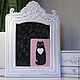 """Открытки на все случаи жизни ручной работы. Ярмарка Мастеров - ручная работа. Купить открытка """"котя любит тебя"""". Handmade. Кошка"""