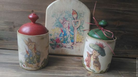 """Кухня ручной работы. Ярмарка Мастеров - ручная работа. Купить Набор """" Сказочные персонажи"""". Handmade. Бежевый, набор для кухни"""