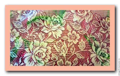 Винтажная одежда и аксессуары. Ярмарка Мастеров - ручная работа. Купить Винтажный платок шейный шарф широкий. Handmade. Серый