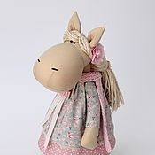 Куклы и игрушки handmade. Livemaster - original item Margot`s horse-a soft toy in the style of Tilda. Handmade.