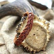 Украшения handmade. Livemaster - original item Leather braided bracelet 2.0. Handmade.