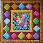 Для дома и интерьера handmade. Livemaster - original item Patchwork pillow for girls. Handmade.