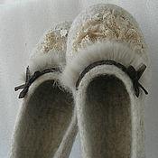 """Обувь ручной работы. Ярмарка Мастеров - ручная работа Тапочки войлочные """" Creme Brulee """". Handmade."""
