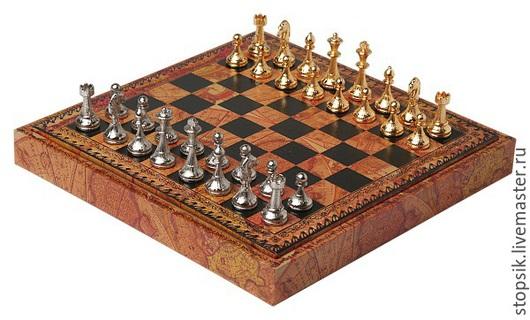 Настольные игры ручной работы. Ярмарка Мастеров - ручная работа. Купить Шахматы, шашки Ретро  33079. Handmade. Чёрно-белый
