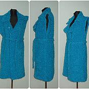 Одежда handmade. Livemaster - original item Turquoise knit coat