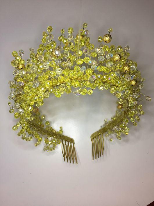 Свадебные украшения ручной работы. Ярмарка Мастеров - ручная работа. Купить Свадебная корона. Handmade. Королева, корона для невесты, выпускной