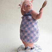 """Куклы и игрушки ручной работы. Ярмарка Мастеров - ручная работа свинка """"Ну как я Вам?"""". Handmade."""
