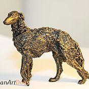 Для дома и интерьера ручной работы. Ярмарка Мастеров - ручная работа РУССКАЯ ПСОВАЯ БОРЗАЯ  - статуэтка (оловянная фигурка собаки. Handmade.