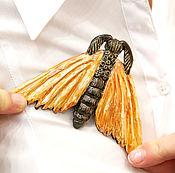 Brooches manualidades. Livemaster - hecho a mano Ceramic brooch