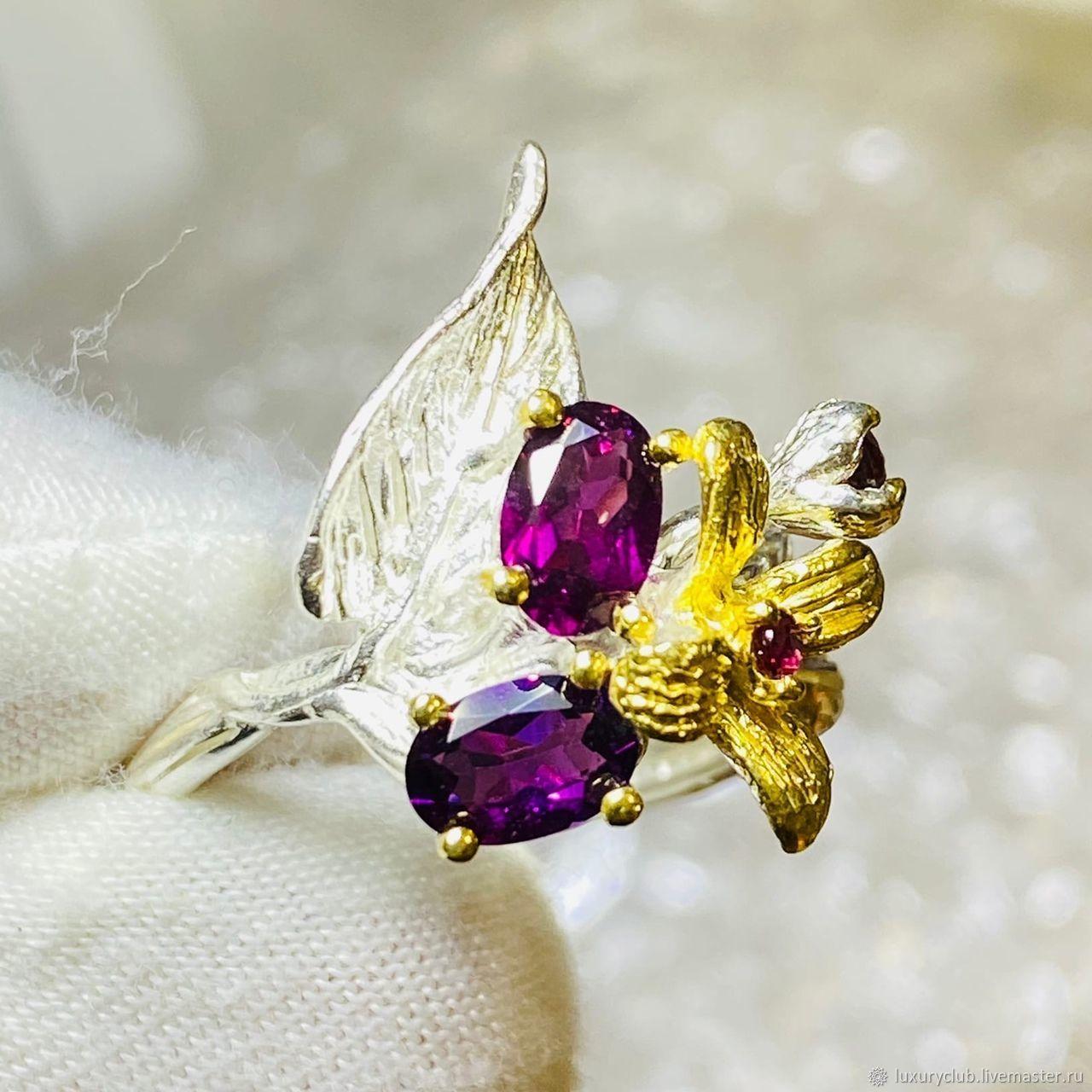 18p Ring with garnet rhodolite silver 925 buy, Rings, Tolyatti,  Фото №1
